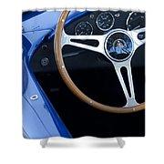 1965 Cobra Sc Steering Wheel 2 Shower Curtain
