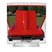 1965 Corvette Shower Curtain