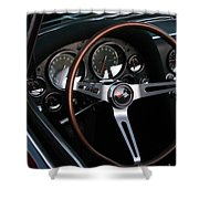 1965 Corvette Roadster Dash Shower Curtain