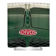 1965 Divco Milk Truck Hood Ornament 4 Shower Curtain