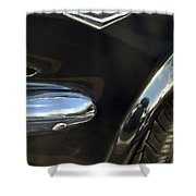 1965 Ford Mustang Emblem 3 Shower Curtain