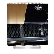 1965 Ford Mustang Grille Emblem 3 Shower Curtain