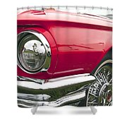 1965 Ford Thunderbird Front End Shower Curtain
