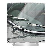 1965 Jaguar E-type Roadster Wipers Shower Curtain