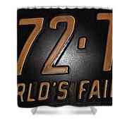 1965 New York World's Fair License Plate Shower Curtain
