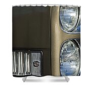 1966 Cadillac Emblem And Headlight Shower Curtain