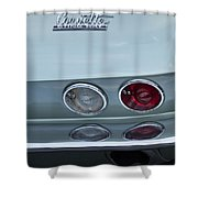 1966 Chevrolet Corvette Tail Light 2 Shower Curtain