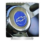 1966 Chevrolet Nova Steering Wheel Emblem Shower Curtain