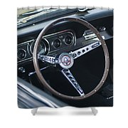 1966 Ford Mustang Cobra Steering Wheel  Shower Curtain