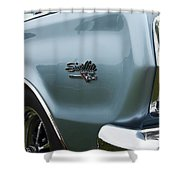 1966 Plymouth Satellite Commando V8 Shower Curtain