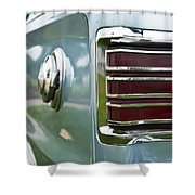 1966 Plymouth Satellite Tail Light Shower Curtain