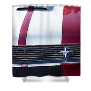 1966 Red Ford Mustang Shelby Gt350 Front Shower Curtain