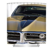 1967 Bronze Pontiac Firebird  Shower Curtain