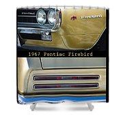 1967 Bronze Pontiac Firebird  Poster S Shower Curtain