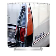 1967 Cadillac Coupe Deville Taillight Shower Curtain