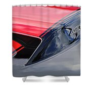 1967 Chevrolet Corvette 427 Hood Emblem 5 Shower Curtain