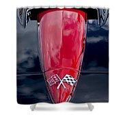1967 Chevrolet Corvette Hood Emblem 5 Shower Curtain