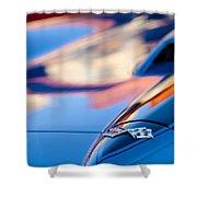 1967 Chevrolet Corvette Hood Emblem Shower Curtain
