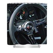 1967 Chevrolet Corvette Steering Wheel Shower Curtain
