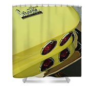 1967 Chevrolet Corvette Taillight Shower Curtain