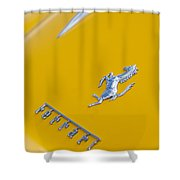 1967 Ferrari 275 Gtb4 Emblem 3 Shower Curtain