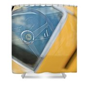 1967 Ferrari 275 Gtb4 Steering Wheel Shower Curtain