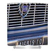 1967 Lancia Fulvia Berlina Grille Emblem Shower Curtain