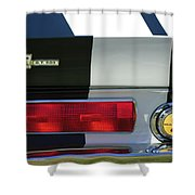1967 Shelby Gt500 Fastback Taillight Emblem Shower Curtain