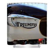 1967 Triumph Bonneville Gas Tank 1 Shower Curtain