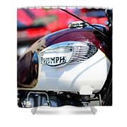 1967 Triumph Gas Tank 3 Shower Curtain