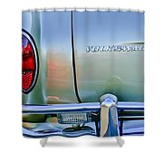 1967 Volkswagen Vw Karmann Ghia Taillight Emblem Shower Curtain