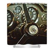 1968 Aston Martin Db6 Steering Wheel Emblem Shower Curtain