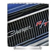 1968 Dodge Charger Rt Coupe 426 Hemi Upgrade Grille Emblem Shower Curtain