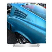 1968 Ford Mustang Fastback  Profile Shower Curtain