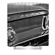 1968 Ford Mustang Gt B/w Shower Curtain