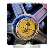 1968 Ford Shelby Gt500 Kr Convertible Wheel Emblem Shower Curtain