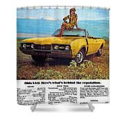 1968 Oldsmobile 4-4-2 - Here's What's Behind The Reputation. Shower Curtain