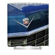 1969 Cadillac Hood Emblem Shower Curtain