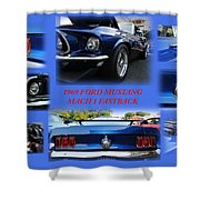 1969 Ford Mustang Mach 1 Fastback Shower Curtain