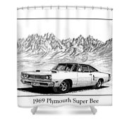 1969 Plymouth Super Bee Shower Curtain by Jack Pumphrey