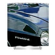 1969 Pontiac Firebird Emblem Shower Curtain