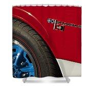 1969 Sc Rambler Wheel Emblem Shower Curtain