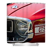 1969 Shelby Gt500 Convertible 428 Cobra Jet Grille Emblem Shower Curtain