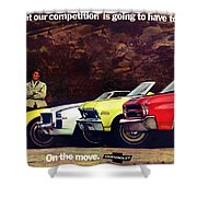 1970 Chevrolet Lineup - This Is What Our Competition Is Going To Have To Live With. Shower Curtain