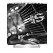 1970 Chevy Chevelle Ss 396 Black And White Shower Curtain