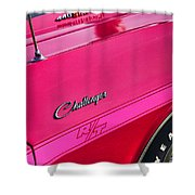 1970 Dodge Challenger Rt 440 Six Pack - Tickled Pink Shower Curtain