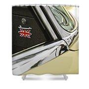 1970 Jaguar Xk Type-e Emblem Shower Curtain