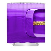 1970 Plum Crazy Plymouth Road Runner Shower Curtain