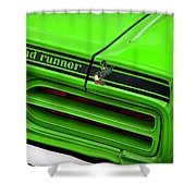 1970 Plymouth Road Runner - Sublime Green Shower Curtain