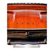 1971 Dodge Challenger - Orange Mopar Typography - Mp002 Shower Curtain